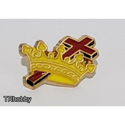 Knights Templar pin gold plated with enamel Masonic Freemasonry