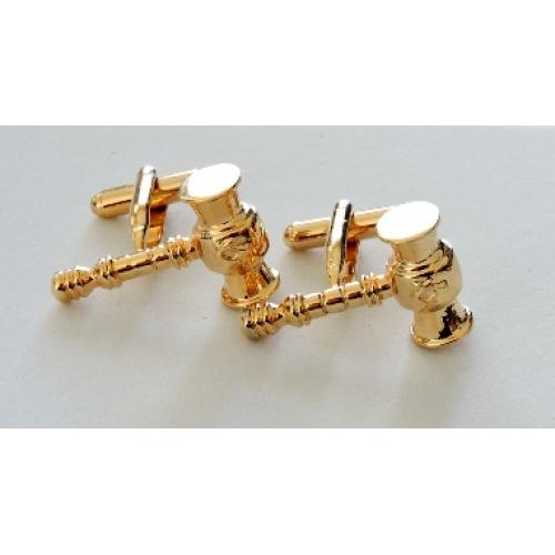 Masonic freemasonry full gavel with Square and Compasses cufflinks