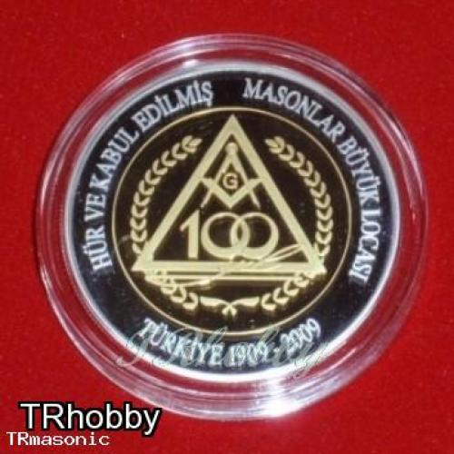 Grand lodge of independent and admitted masons of Turkey 100th years medallion