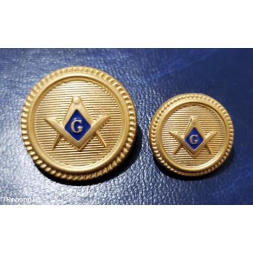 Blazer Jacket button set circular with square & compass G logo with enamel for Masonic Freemasonry